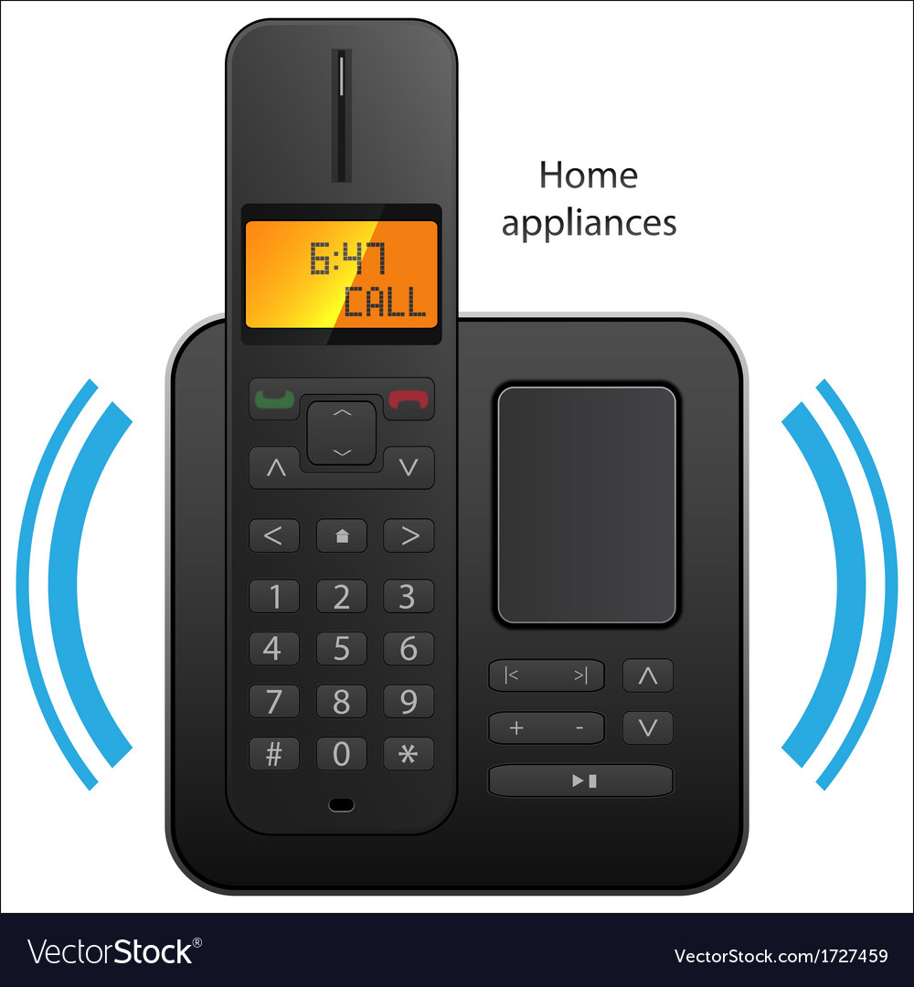 Cordless phone vector | Price: 1 Credit (USD $1)