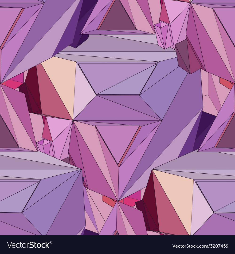 Geometric 3d seamless background vector   Price: 1 Credit (USD $1)