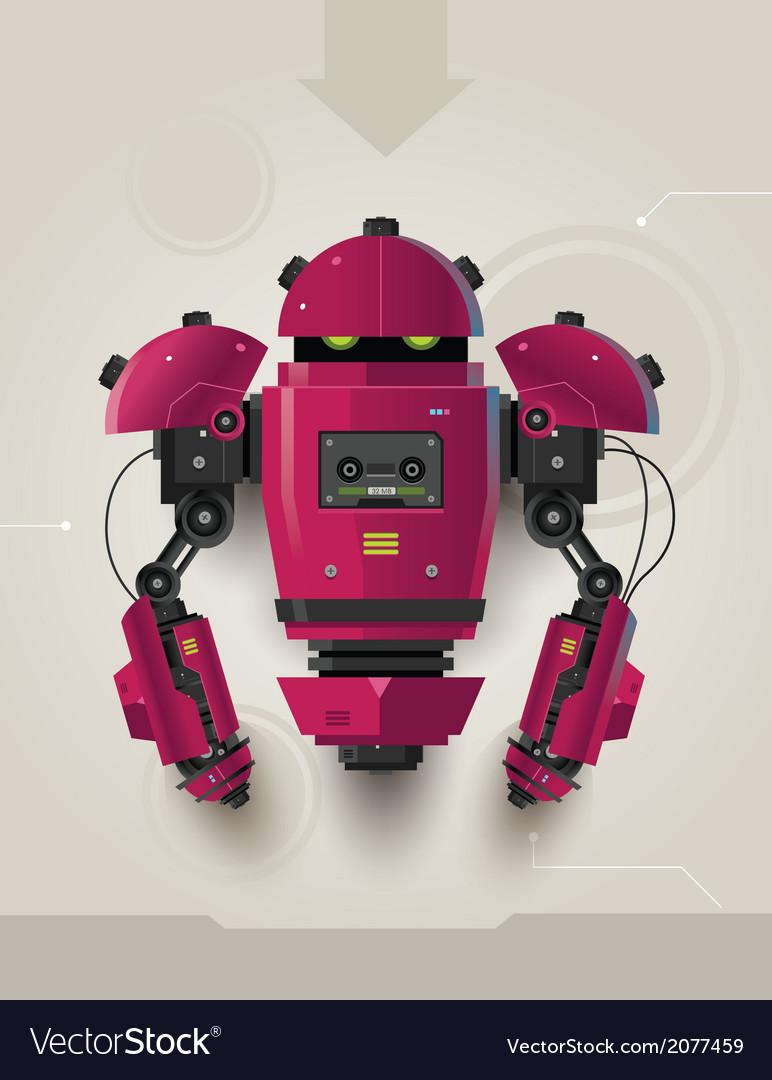 Hi tech futuristic robot 02 vector | Price: 3 Credit (USD $3)