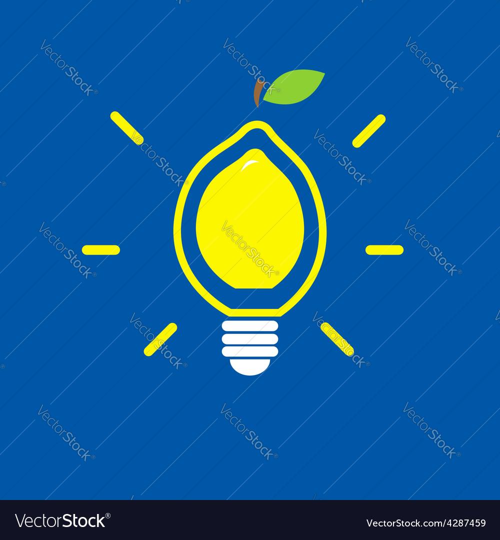 Lemon bulb vector | Price: 1 Credit (USD $1)