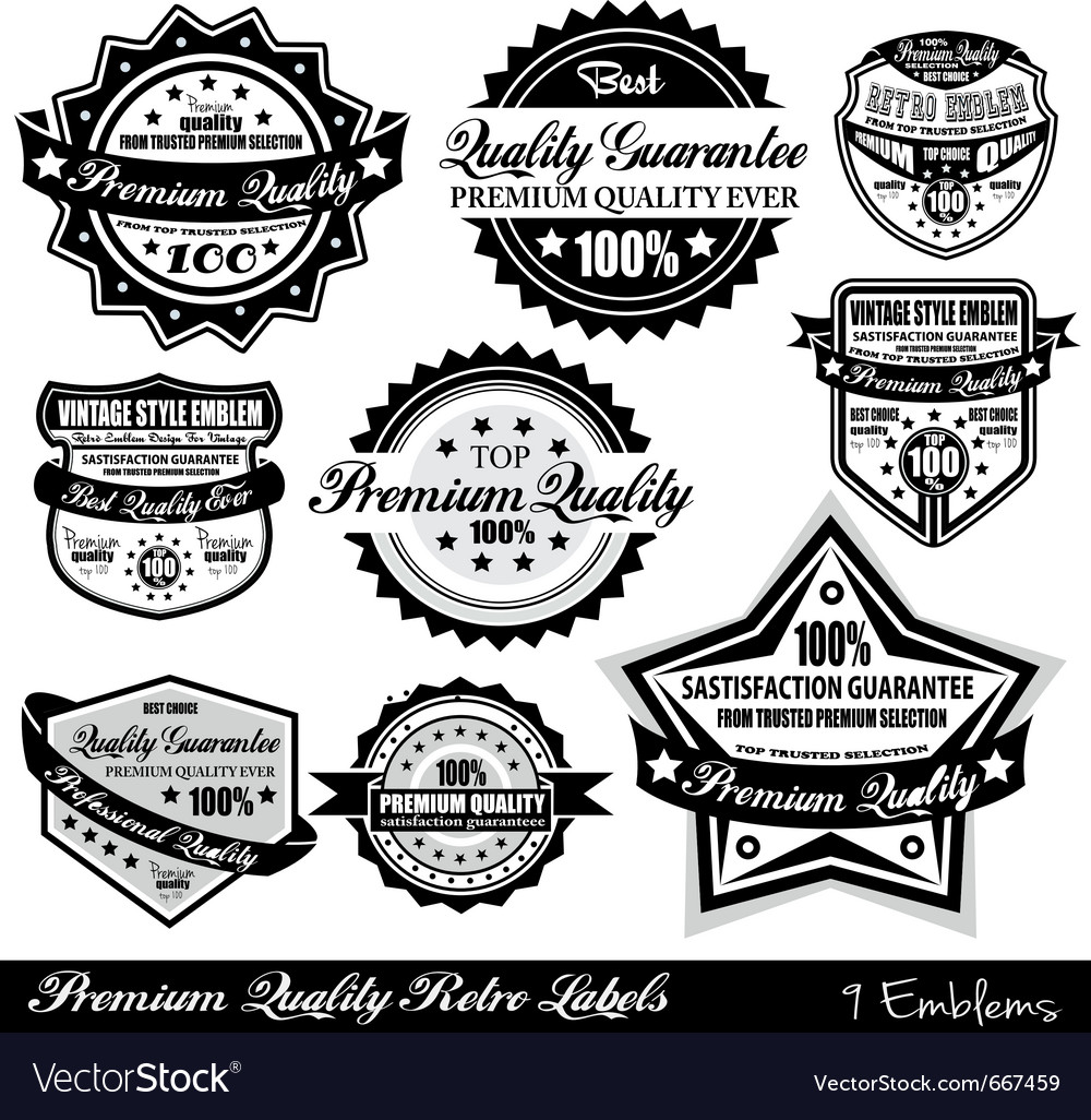 Quality retro labels vector | Price: 1 Credit (USD $1)