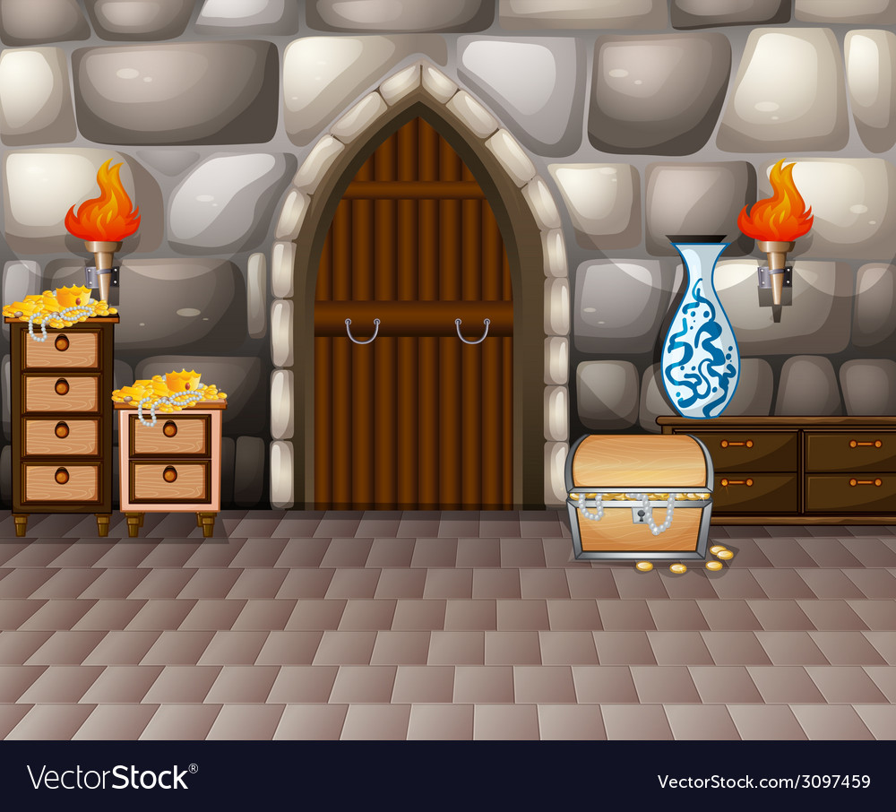 Room and treasure vector | Price: 1 Credit (USD $1)