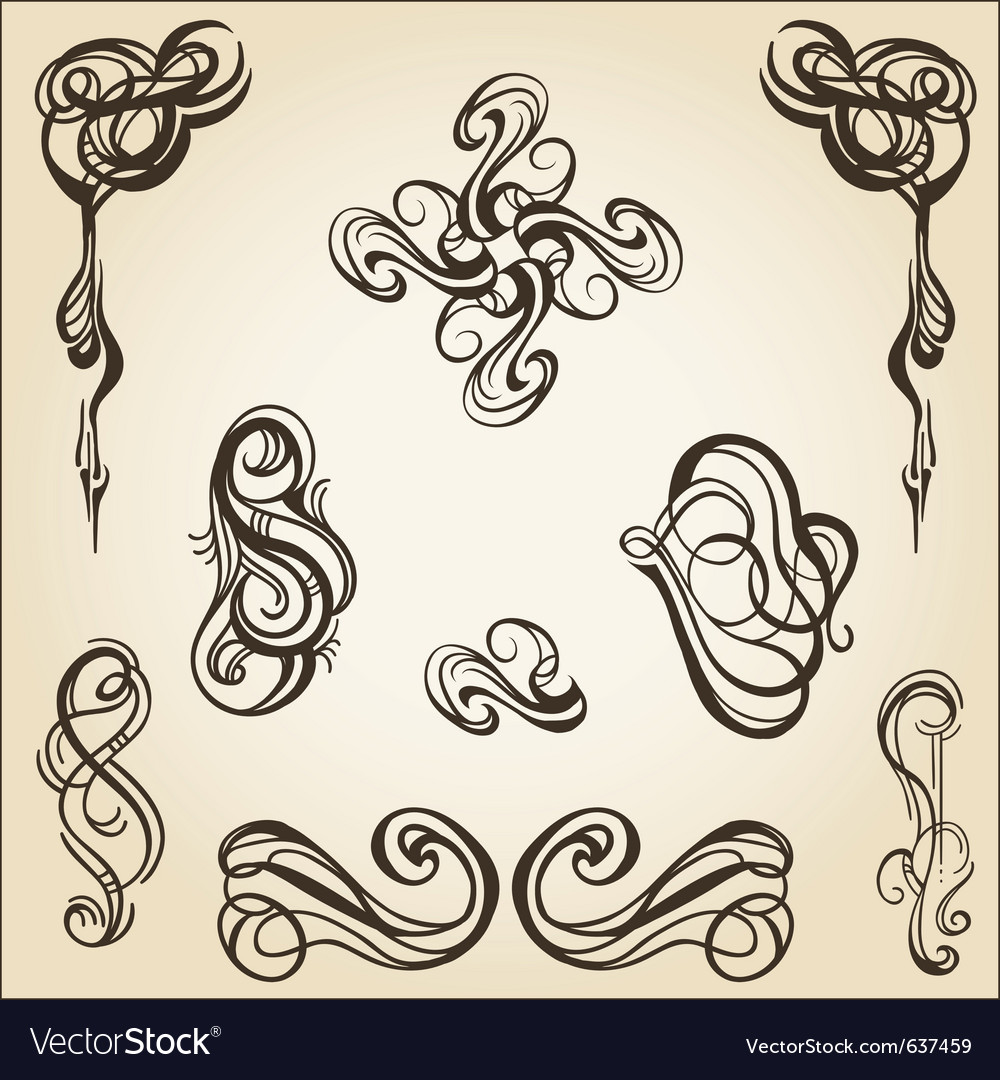 Scroll collection 1 vector | Price: 1 Credit (USD $1)