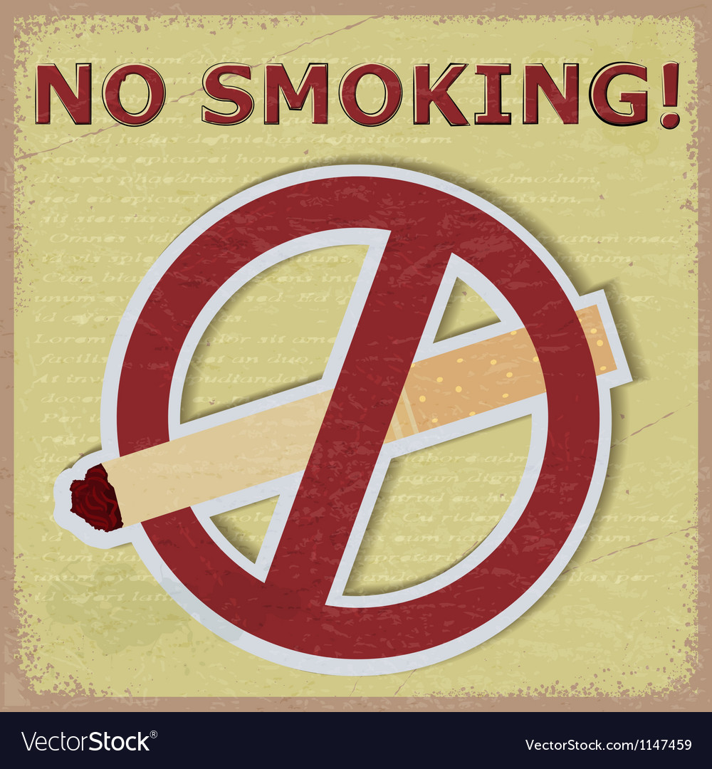 Vintage background with the image of the sign ban vector | Price: 1 Credit (USD $1)