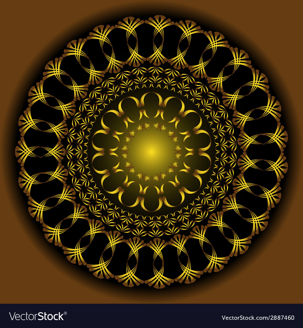 Abstract gold figure vector | Price: 1 Credit (USD $1)