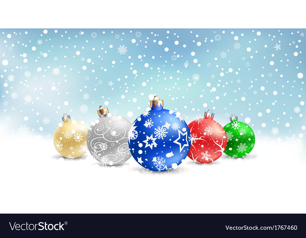 Christmas bauble snow textarea vector | Price: 1 Credit (USD $1)