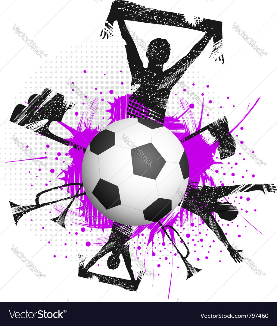 Football fans grunge vector | Price: 1 Credit (USD $1)