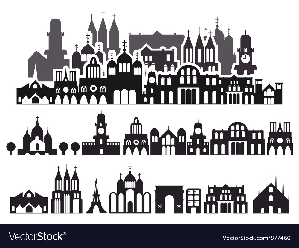 Houses background vector | Price: 1 Credit (USD $1)