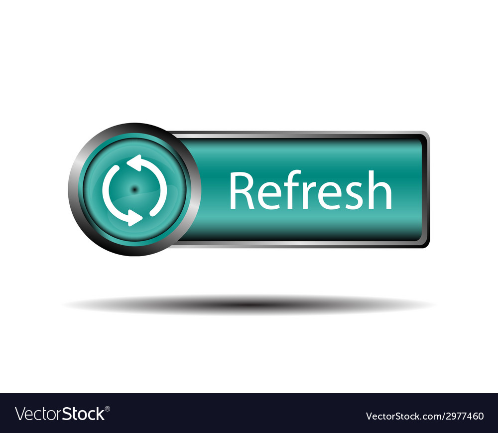 Refresh button blue isolated vector | Price: 1 Credit (USD $1)