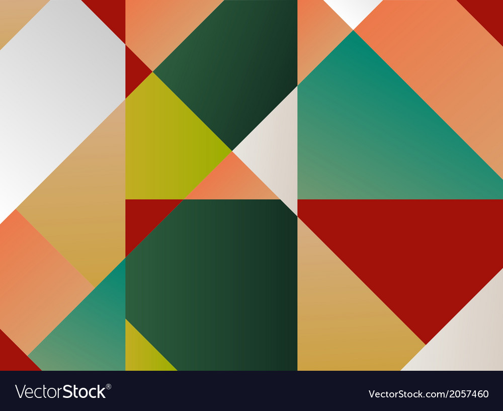 Retro pattern of geometric shapes colorful mosaic vector   Price: 1 Credit (USD $1)