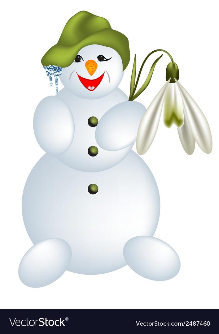 Snow man vector | Price: 1 Credit (USD $1)