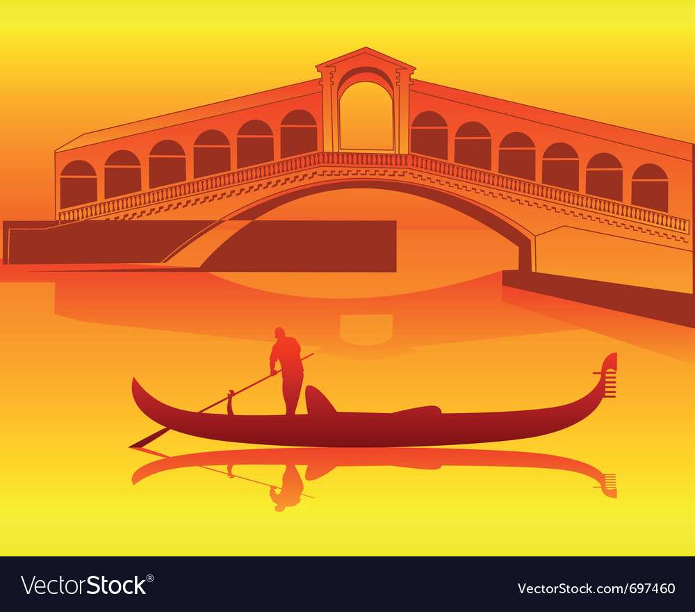 Venetian gondola vector | Price: 1 Credit (USD $1)