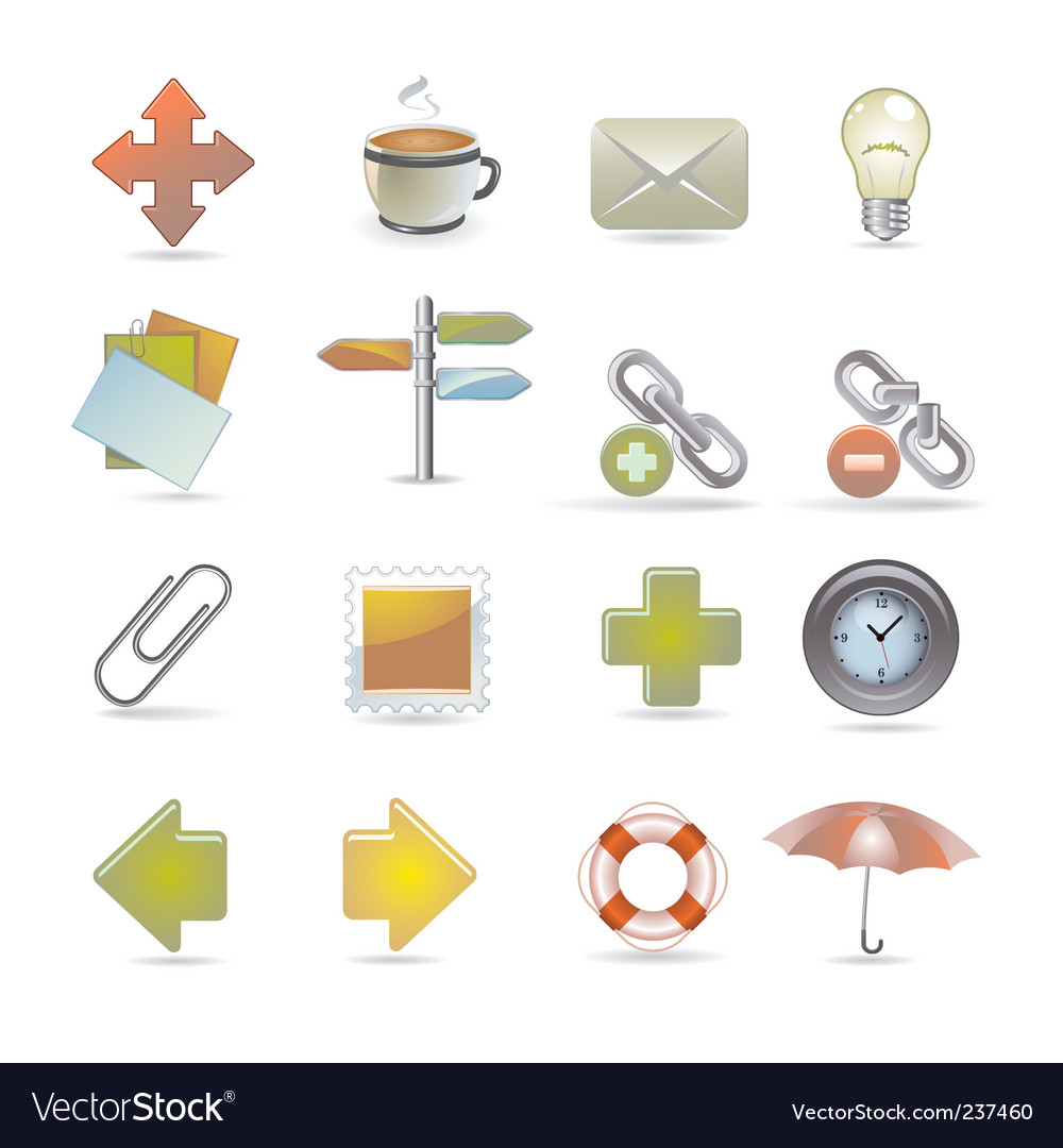 Web and internet icons vector | Price: 3 Credit (USD $3)
