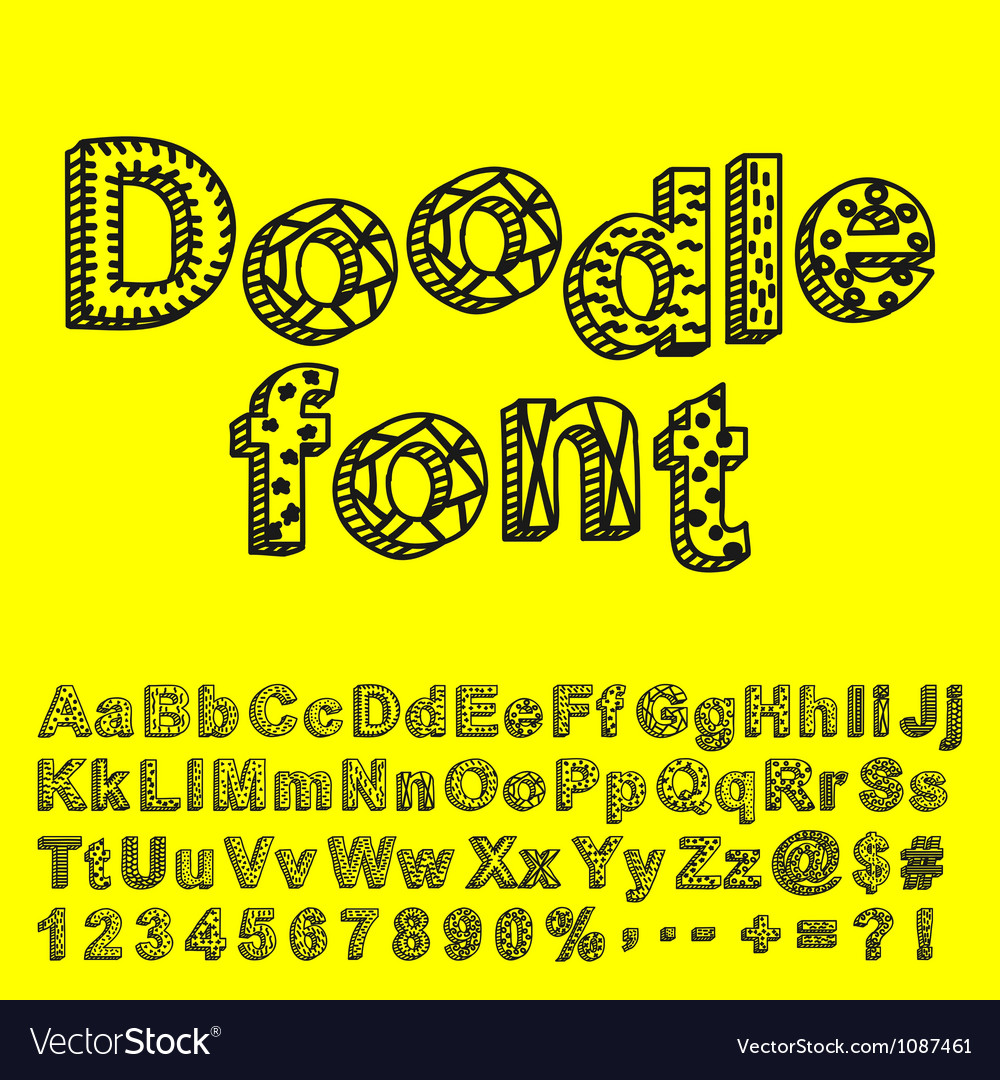 Abstract doodle font vector | Price: 1 Credit (USD $1)