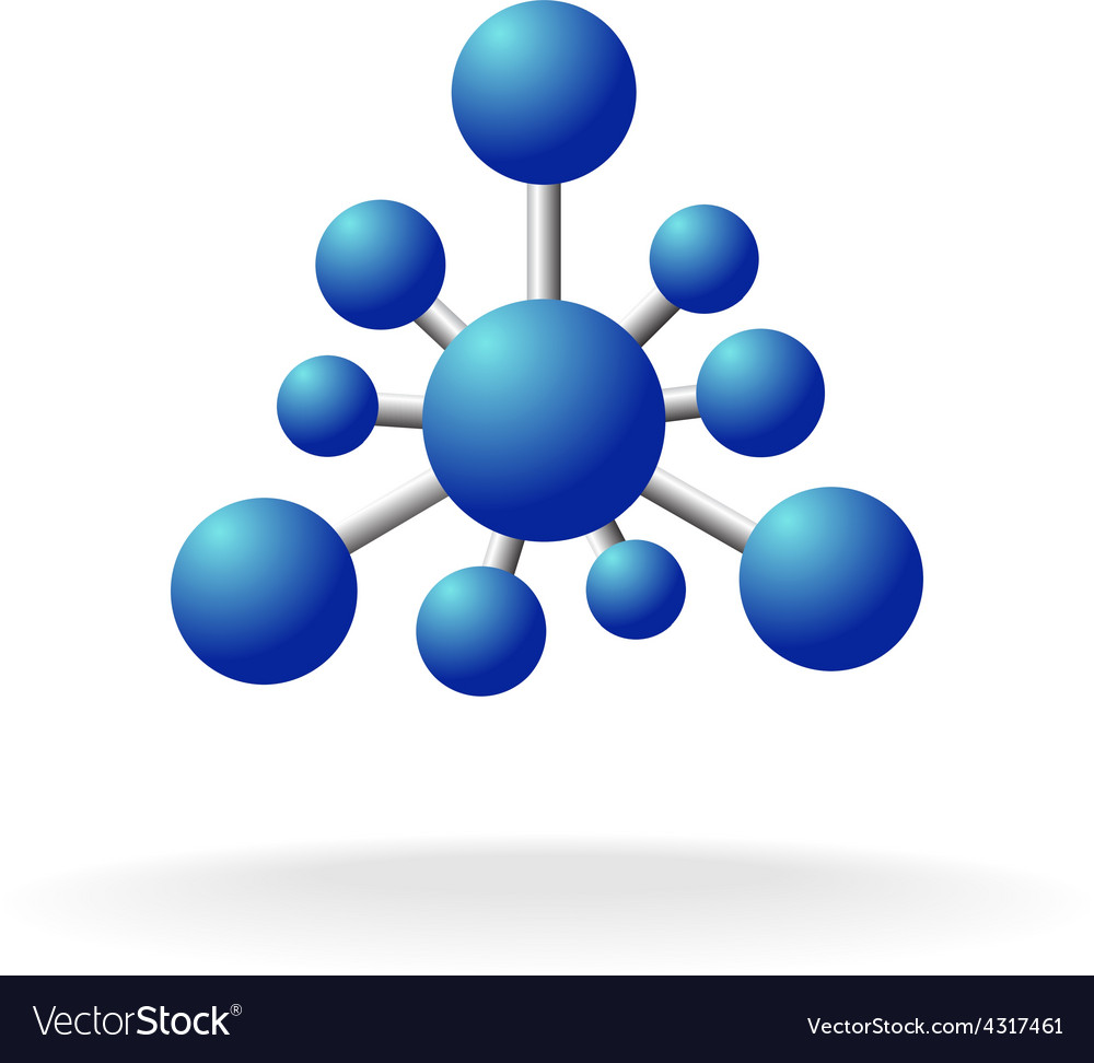 Abstract molecular structure symbol vector | Price: 1 Credit (USD $1)