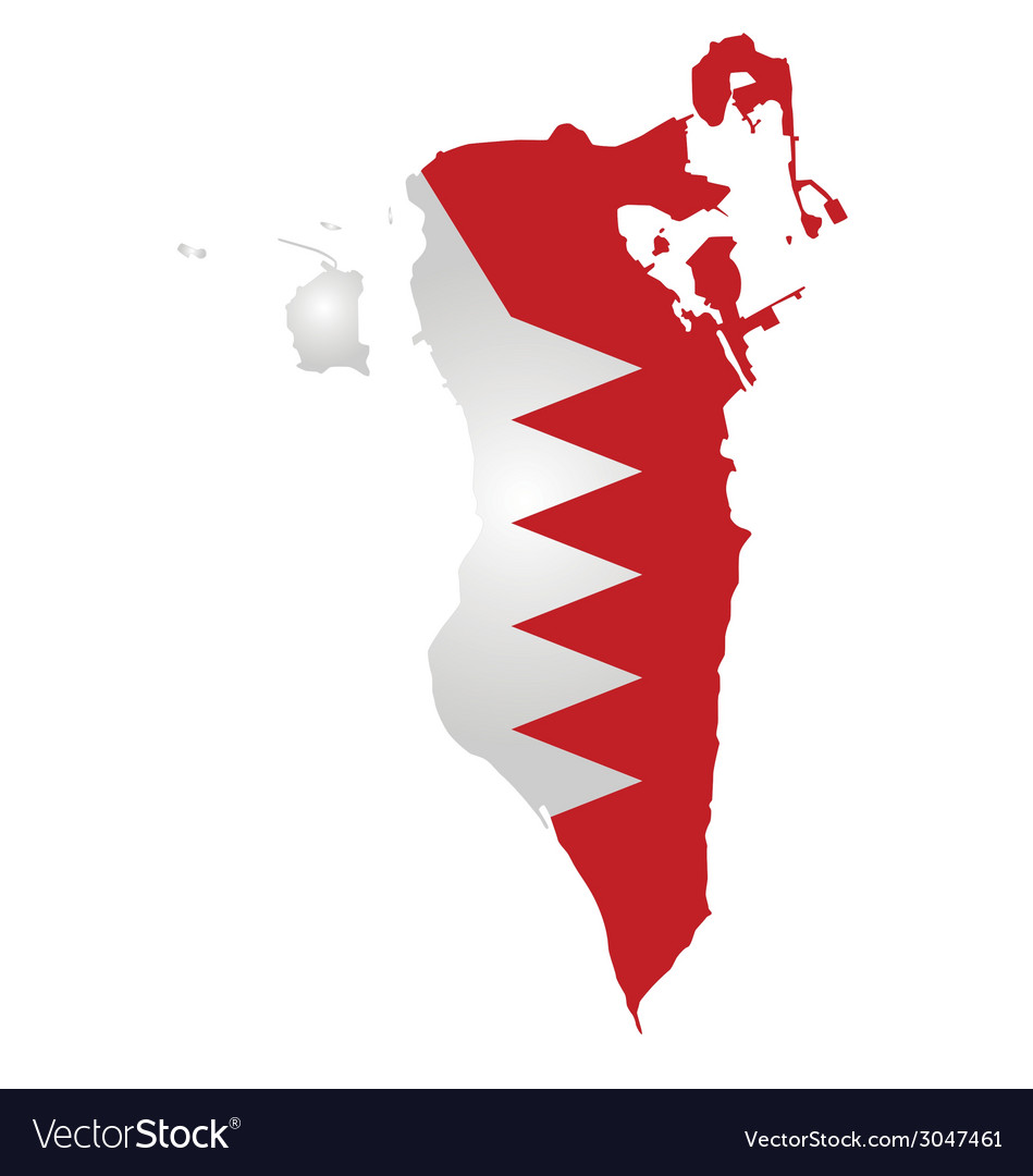 Bahrain flag vector | Price: 1 Credit (USD $1)