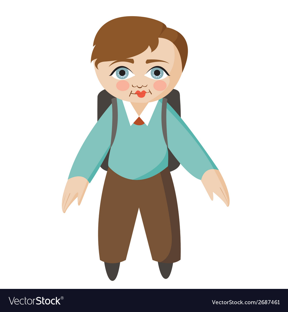 Boy school student vector | Price: 1 Credit (USD $1)