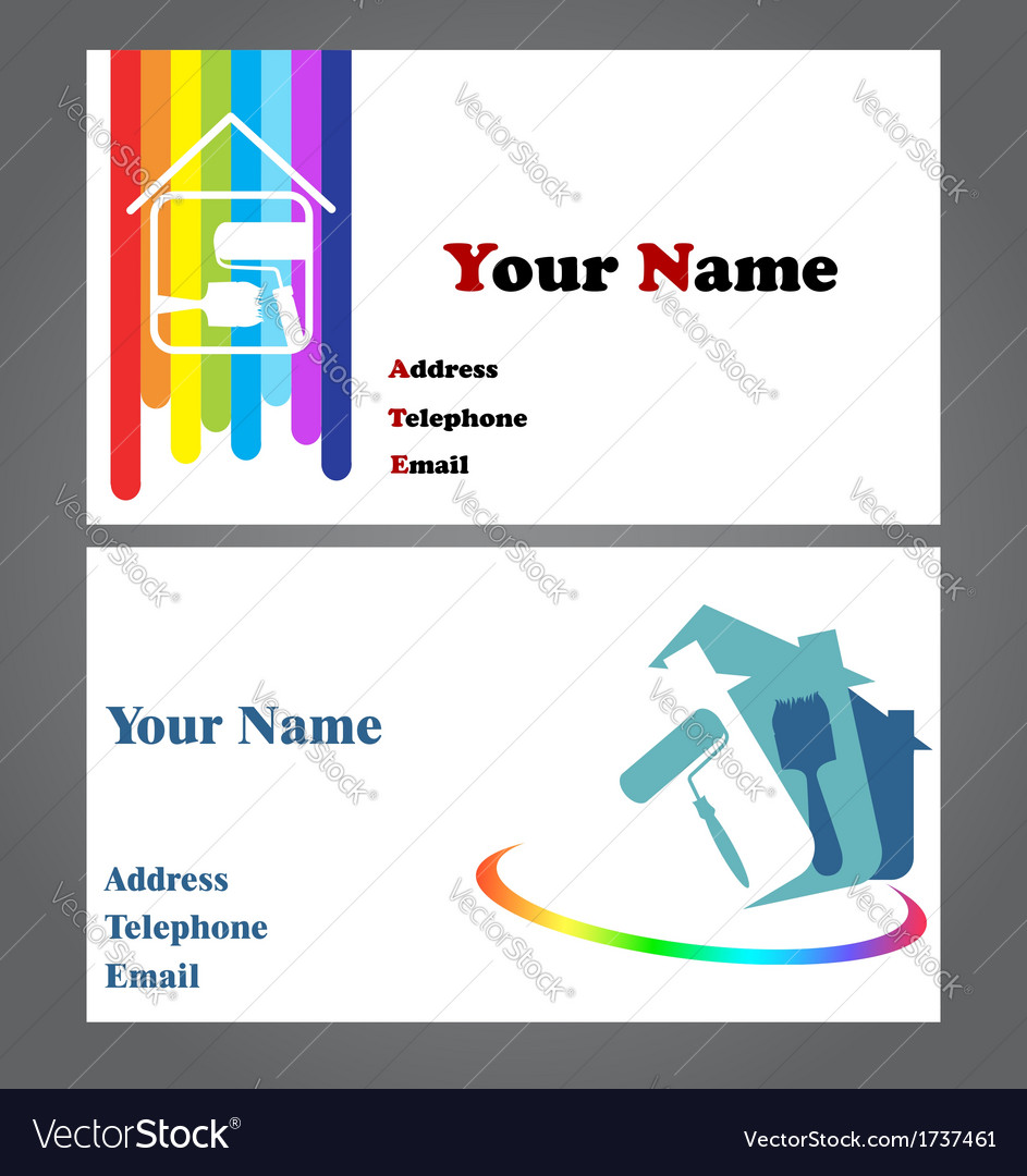 Business card - painter vector | Price: 1 Credit (USD $1)