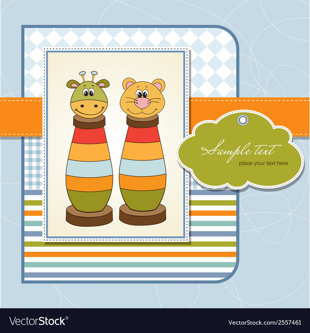 Childish card with toys vector | Price: 1 Credit (USD $1)