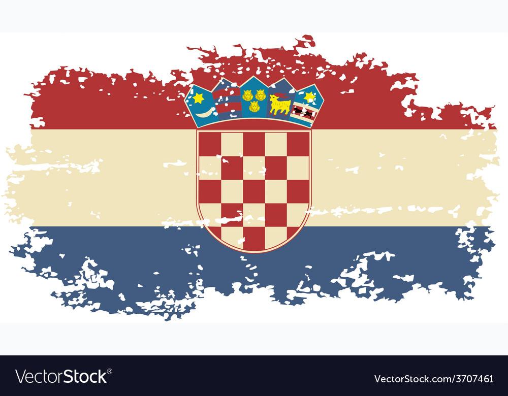 Croatian grunge flag vector | Price: 1 Credit (USD $1)