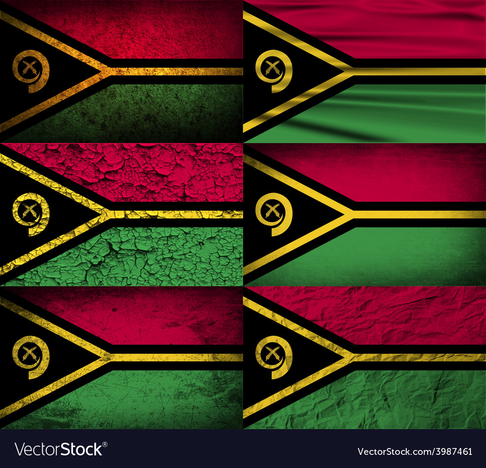 Flag of vanuatu with old texture vector | Price: 1 Credit (USD $1)