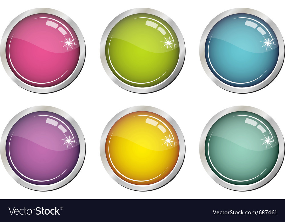 Glassy color buttons vector | Price: 1 Credit (USD $1)