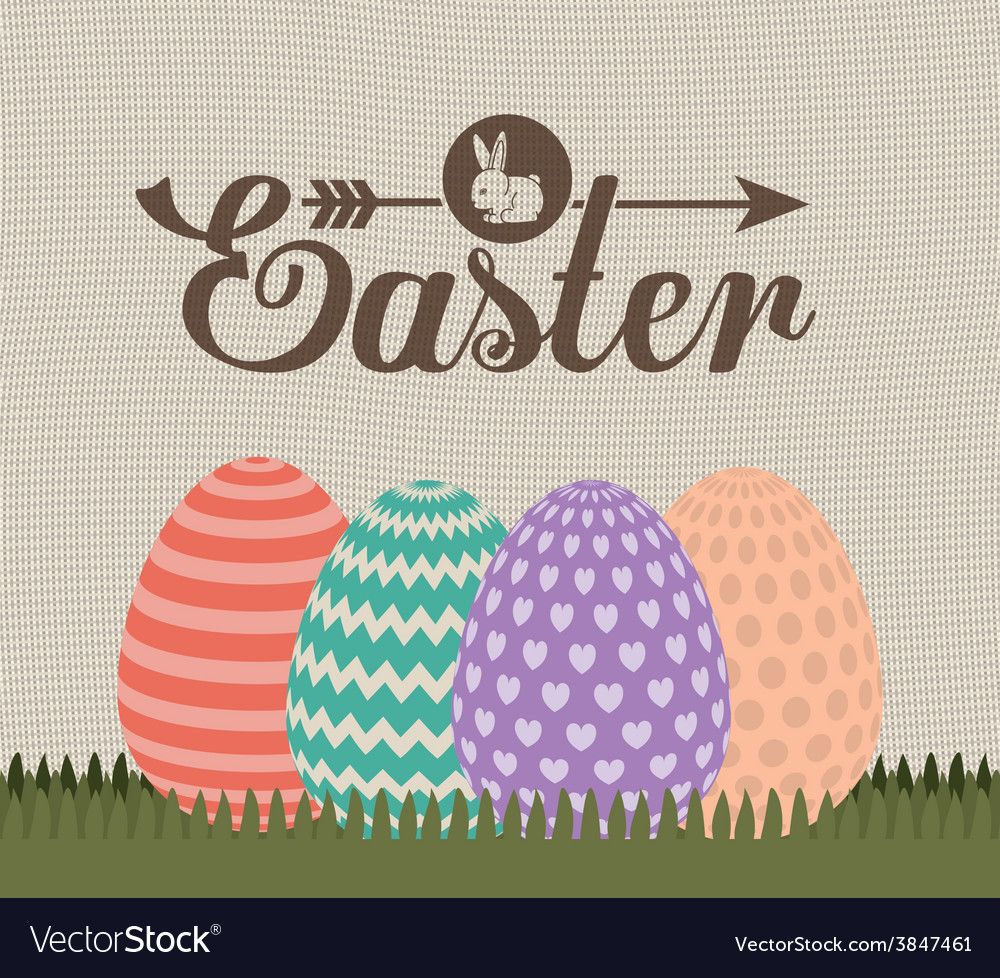 Happy easter card design vector | Price: 1 Credit (USD $1)