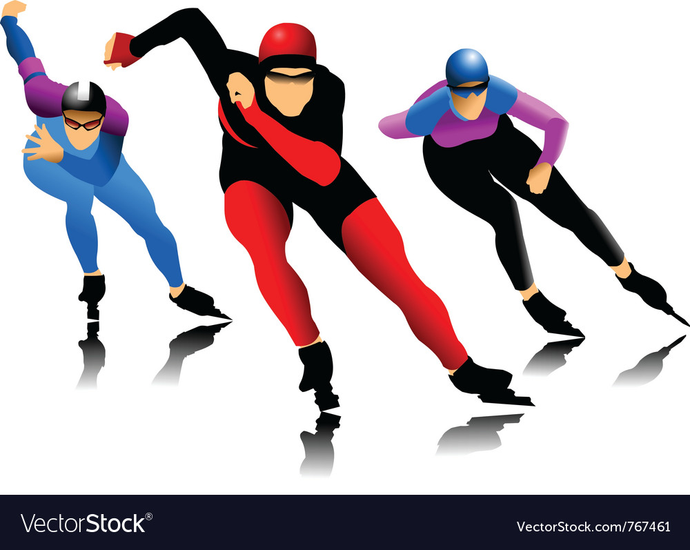 Ice skater vector | Price: 1 Credit (USD $1)