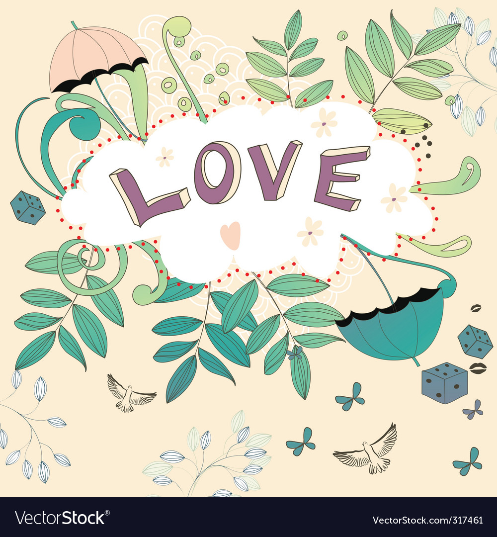 Inscription love vector | Price: 3 Credit (USD $3)