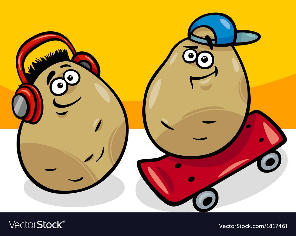 New potatoes cartoon vector   Price: 1 Credit (USD $1)