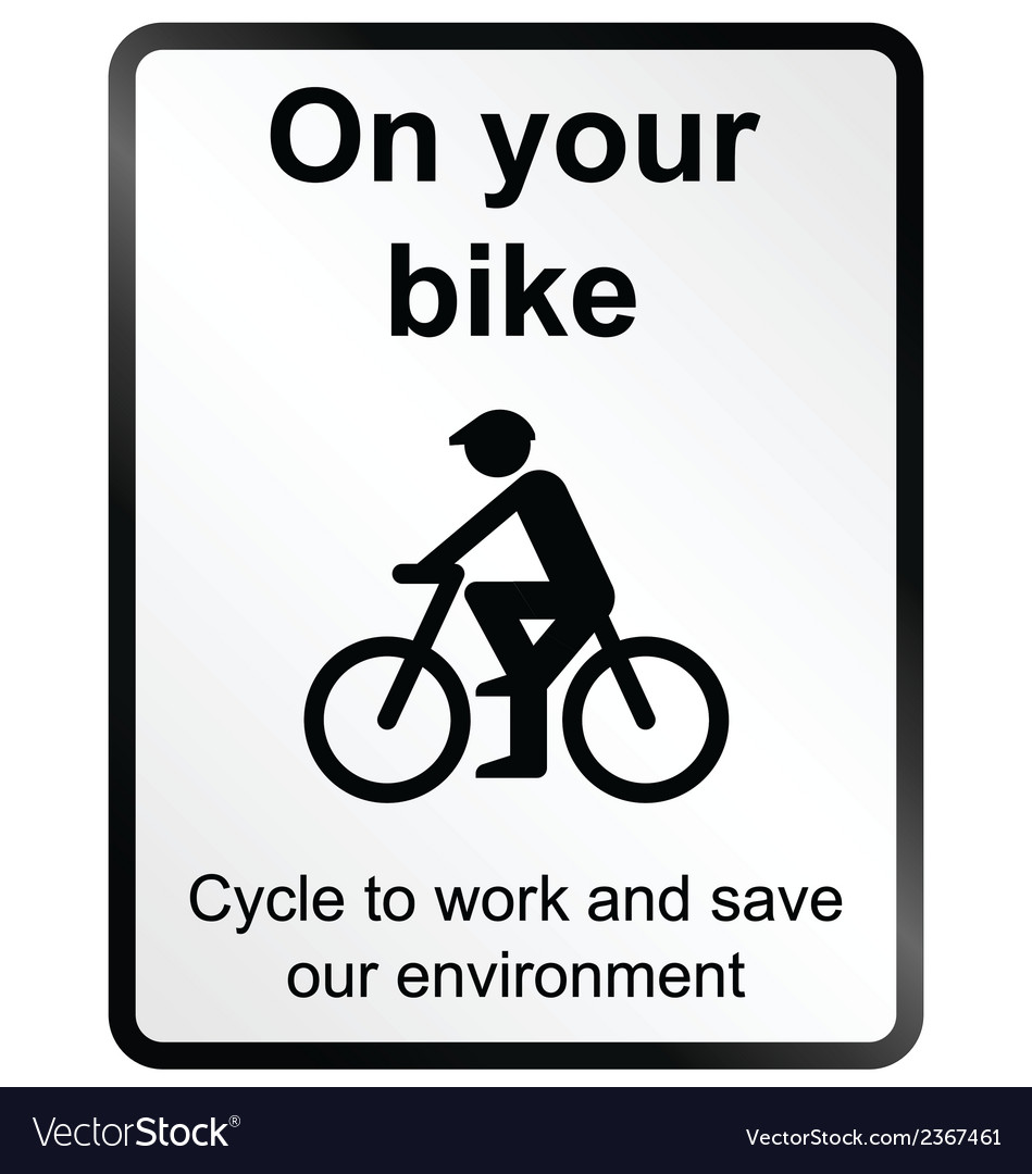 On your bike information sign vector | Price: 1 Credit (USD $1)