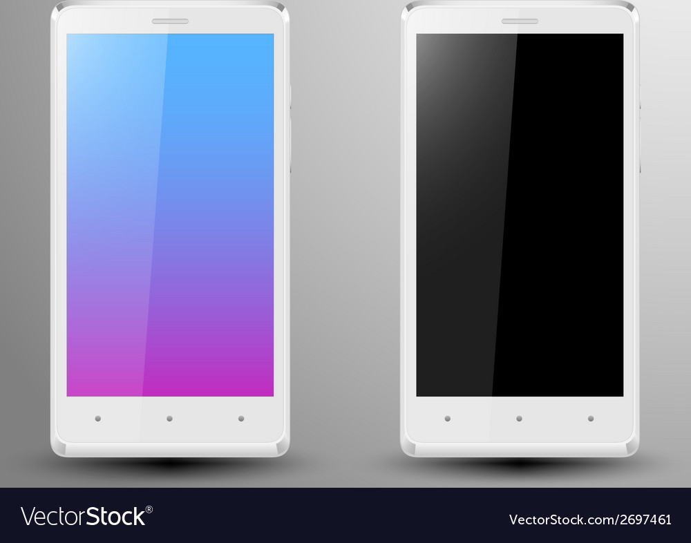 Realistic of a white smartphone vector | Price: 1 Credit (USD $1)