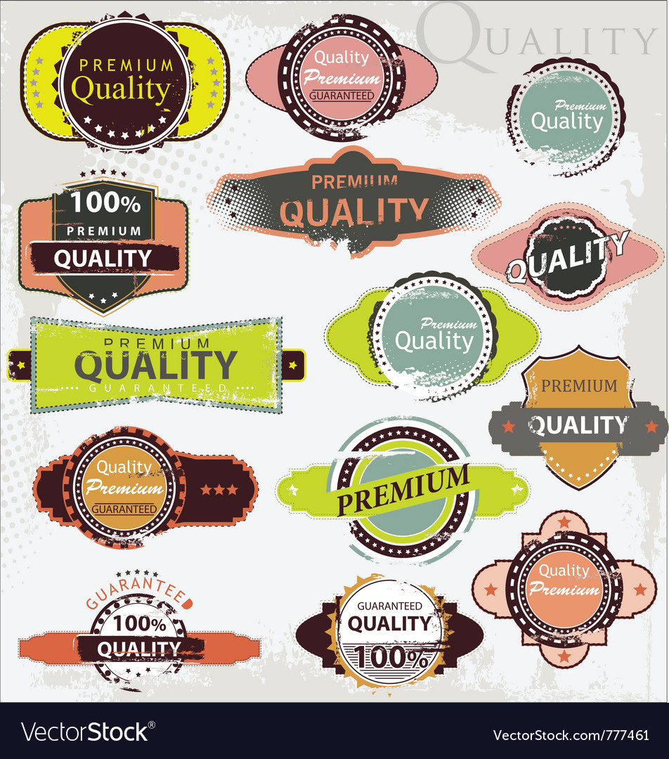 Retro label style collection - grunge set vector | Price: 1 Credit (USD $1)