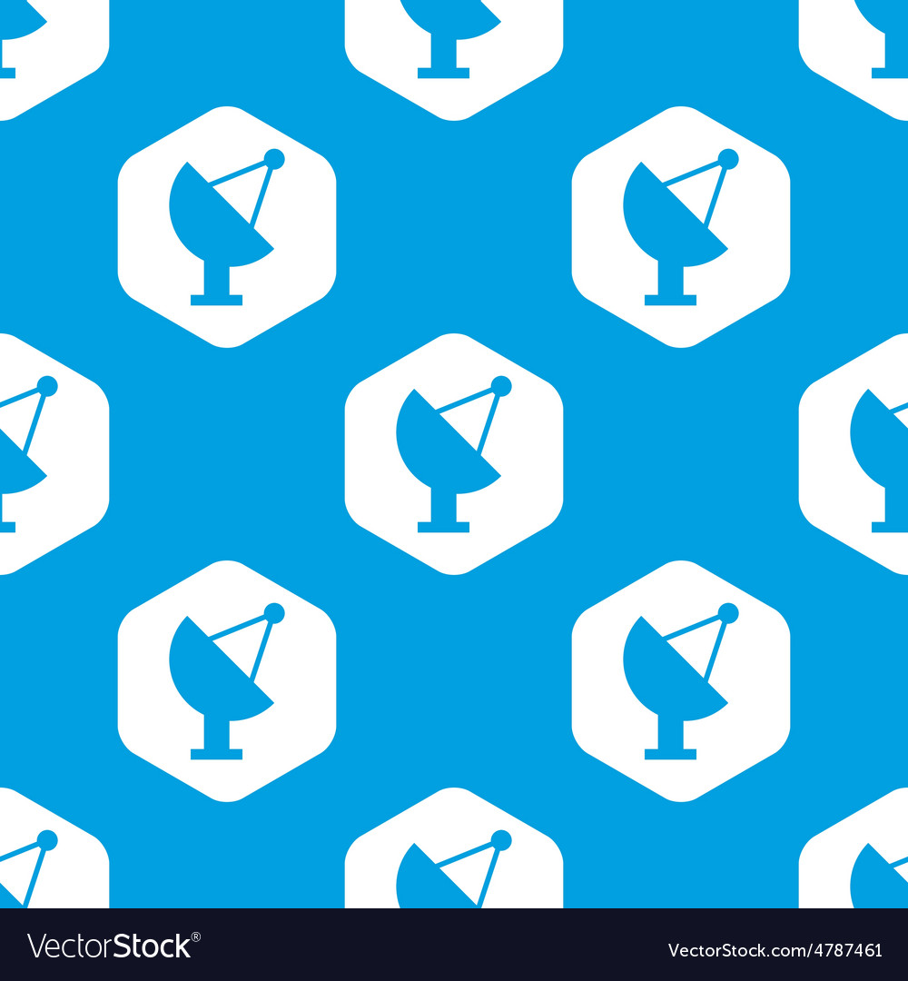 Satellite dish hexagon pattern vector | Price: 1 Credit (USD $1)