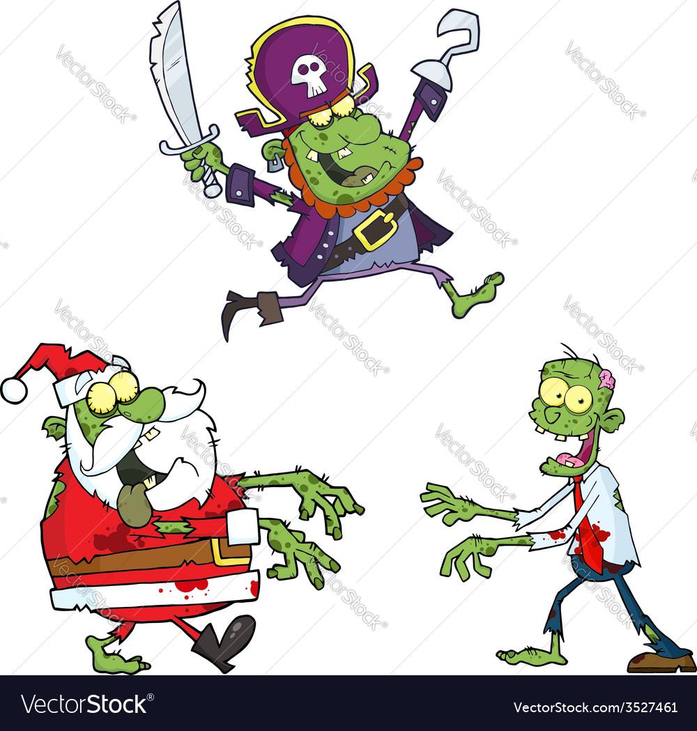 Set of cartoon monsters vector | Price: 1 Credit (USD $1)