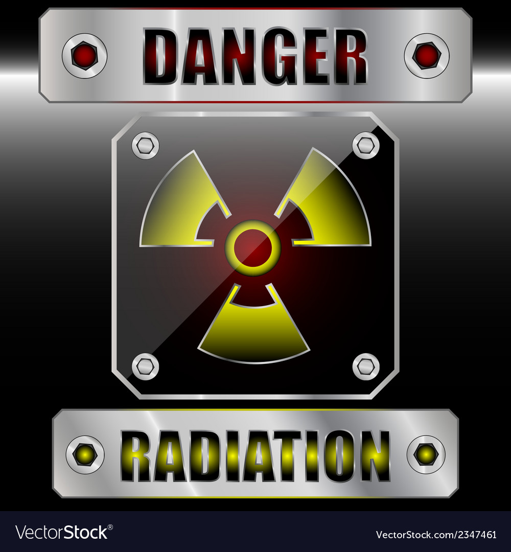 Set symbols radioactive danger vector | Price: 1 Credit (USD $1)
