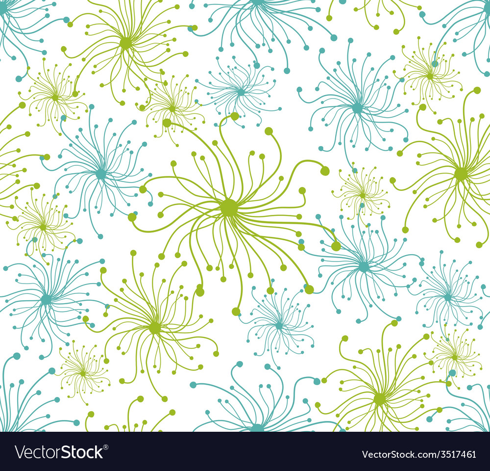 Spring floral seamless pattern vector