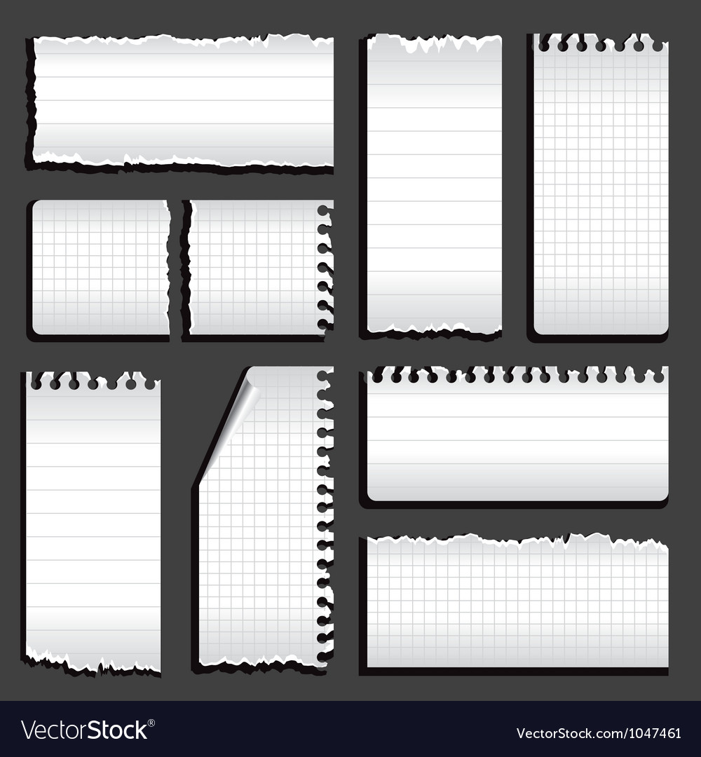 Torn notebook vector | Price: 1 Credit (USD $1)
