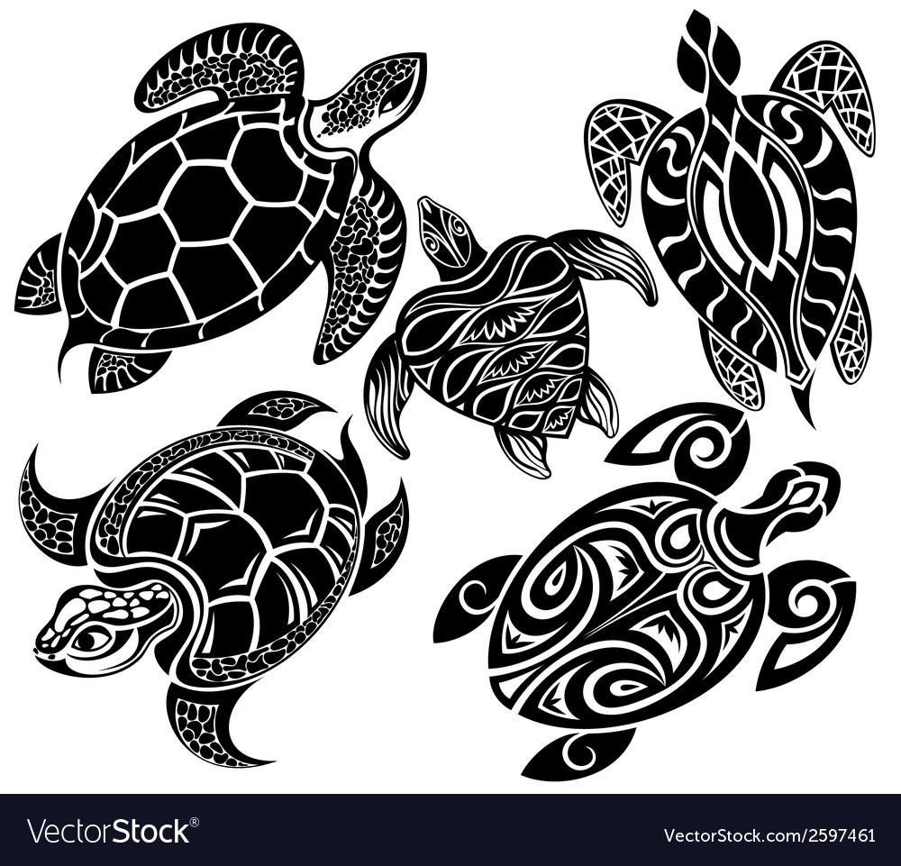 Turtles vector | Price: 1 Credit (USD $1)