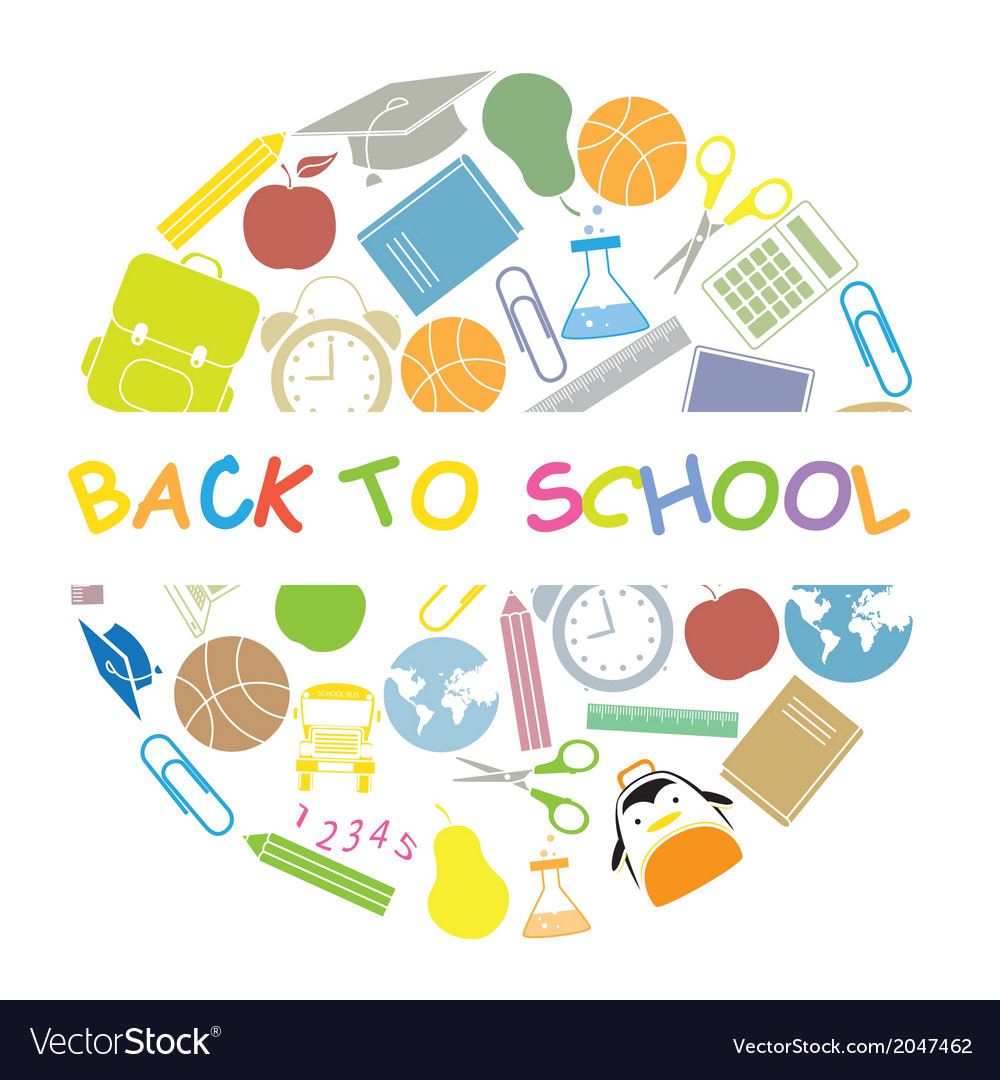 Back to school school icons vector   Price: 1 Credit (USD $1)