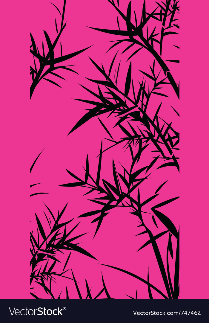 Black bamboo foliage vector | Price: 1 Credit (USD $1)