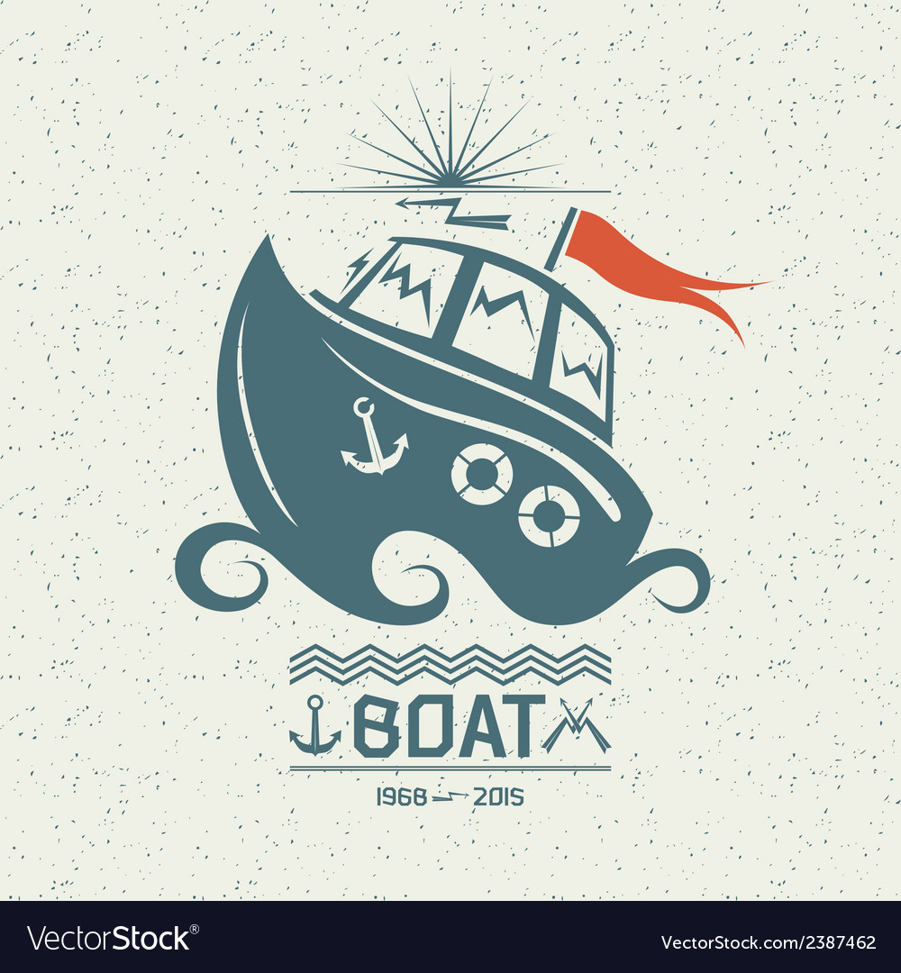 Brave small boat vector | Price: 1 Credit (USD $1)