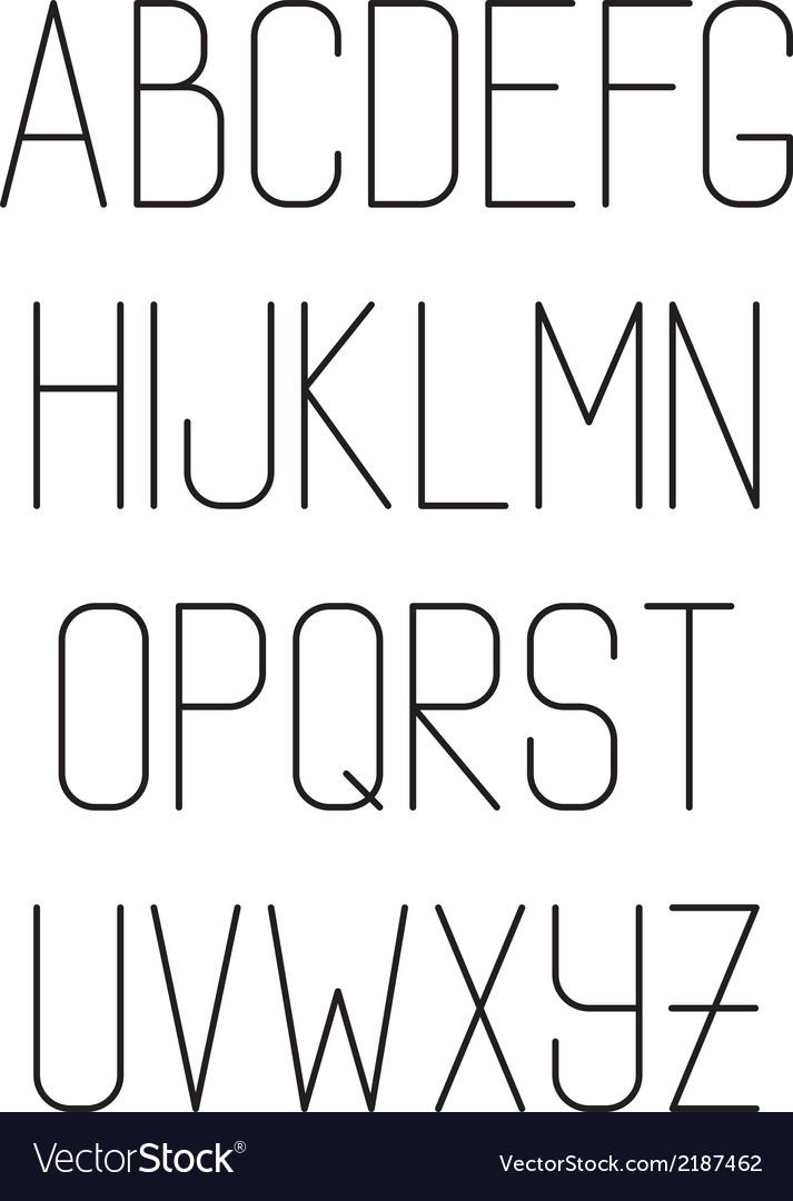Light thin hand drawn font type alphabet vector | Price: 1 Credit (USD $1)
