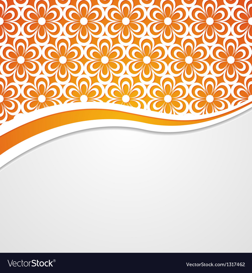 Orange and white floral background vector | Price: 1 Credit (USD $1)
