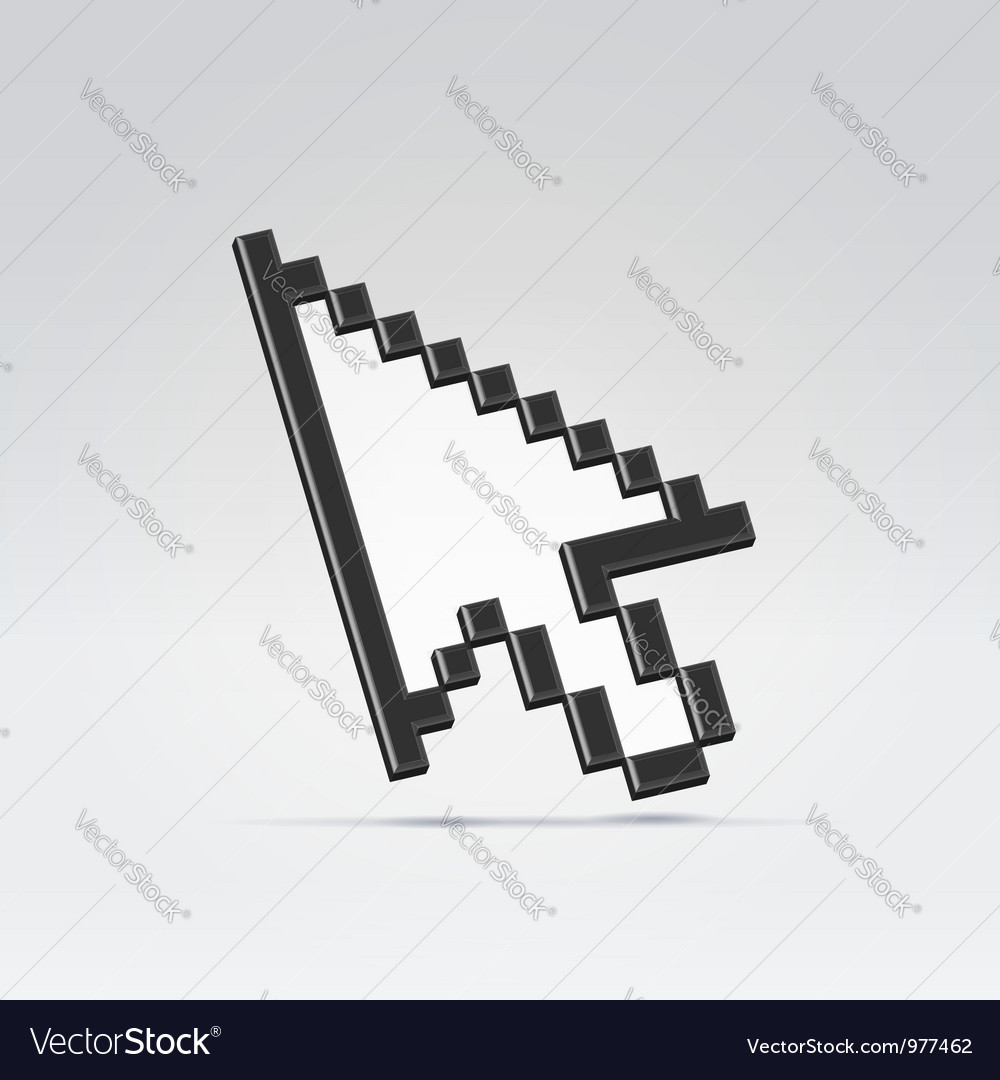 Pointer cursor arrow vector | Price: 1 Credit (USD $1)