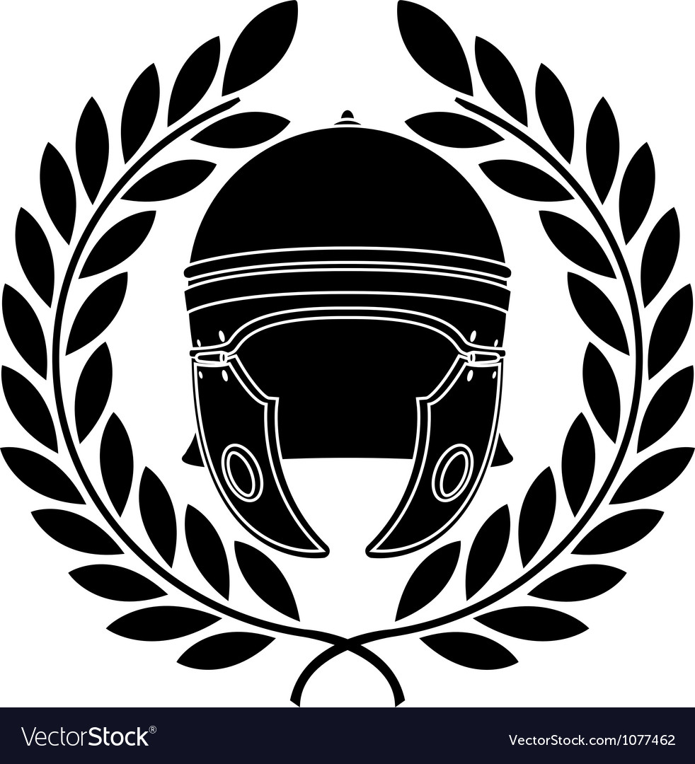 Roman helmet stencil second variant vector | Price: 1 Credit (USD $1)