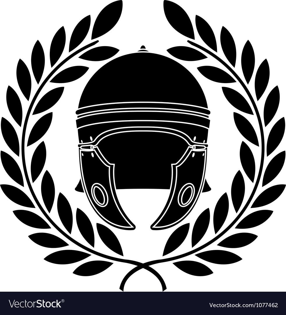 Roman helmet stencil second variant vector | Price: 1 Credit (USD $1)