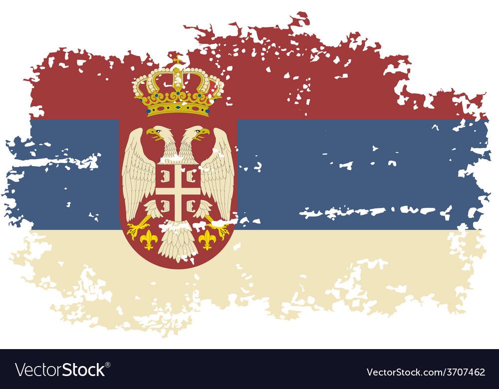 Serbian grunge flag vector   Price: 1 Credit (USD $1)