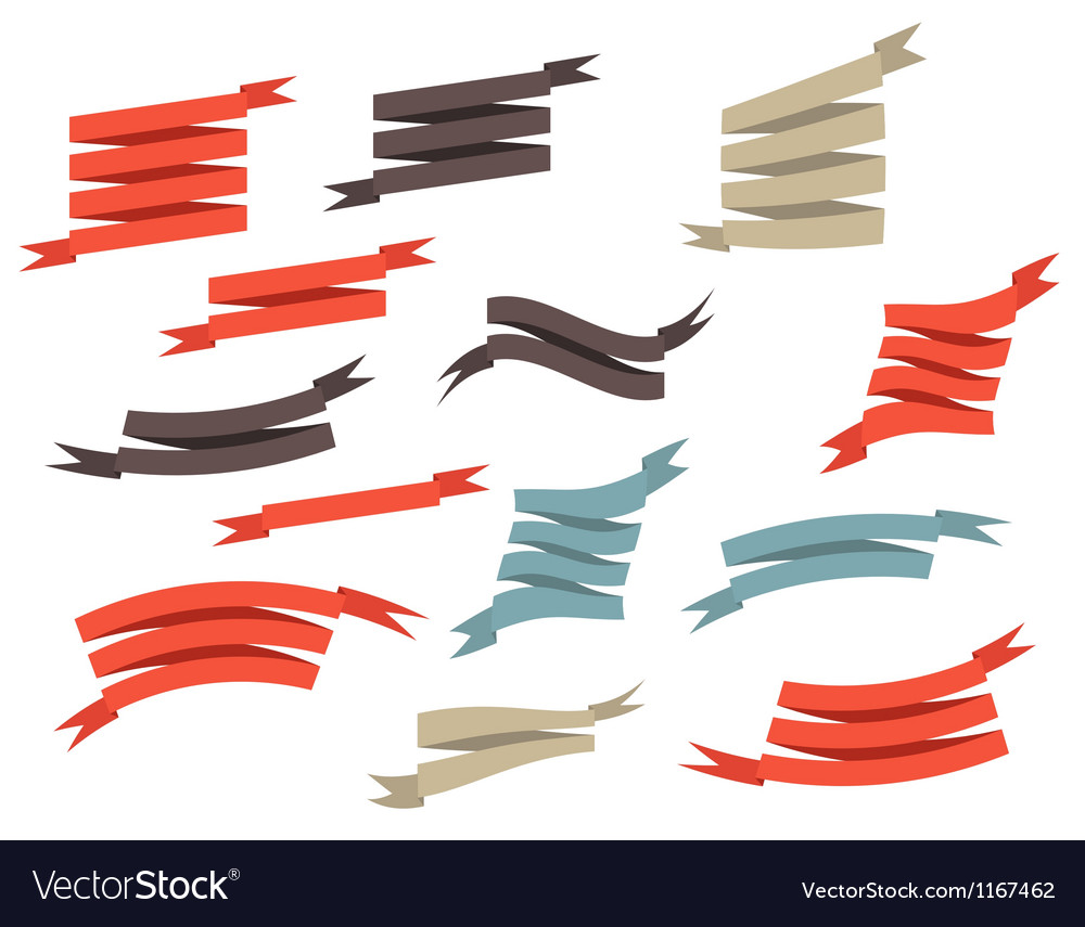 Set retro ribbons and label vector   Price: 1 Credit (USD $1)