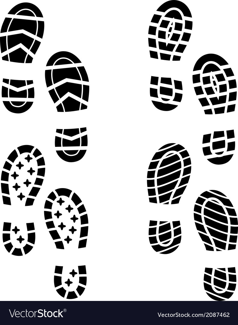 Shoe print vector | Price: 1 Credit (USD $1)